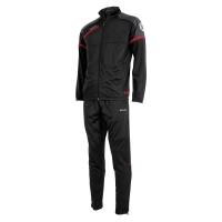 Prestige Polyester Suit - Black/Red