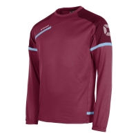 Prestige Top Round Neck - Maroon/Sky Blue