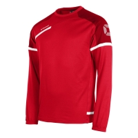 Prestige Top Round Neck - Red/White