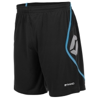 Pisa Shorts - Black/Aqua Blue