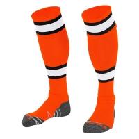 League Socks - Orange/White/Black