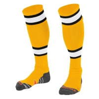 League Socks - Amber/White/Black
