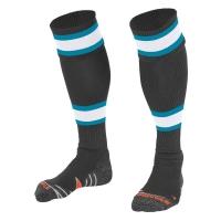 League Socks - Anthracite/White/Aqua Blue