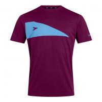 Delta Plus T-Shirt - Maroon/Sky