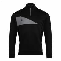 Delta Plus 1/4 Zip Top - Black/Grey