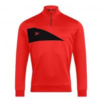 Delta Plus 1/4 Zip Top - Scarlet/Black