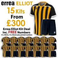 Errea Elliot 15 Kit Deal - Black/Amber