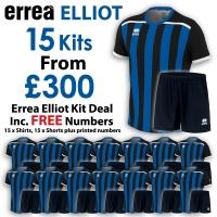Errea Elliot 15 Kit Deal - Black/Blue