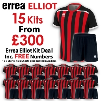 Errea Elliot 15 Kit Deal - Red/Black