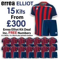 Errea Elliot 15 Kit Deal - Navy/Red
