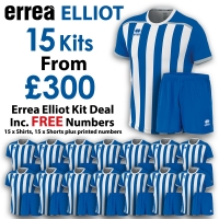 Errea Elliot 15 Kit Deal - Royal/White
