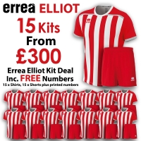 Errea Elliot 15 Kit Deal - Red/White