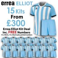 Errea Elliot 15 Kit Deal - Sky Blue/White