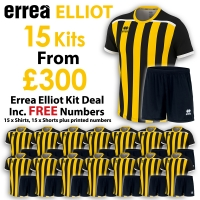 Errea Elliot 15 Kit Deal - Black/Yellow