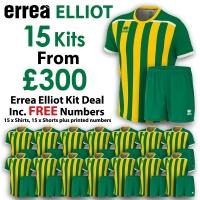 Errea Elliot 15 Kit Deal - Green/Yellow