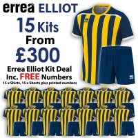 Errea Elliot 15 Kit Deal - Navy/Yellow