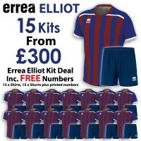 Errea Elliot 15 Kit Deal - Royal/Maroon