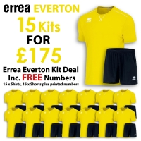 Everton 15 Kit Deal - Yellow Fluo/Black