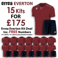 Everton 15 Kit Deal - Maroon/Black
