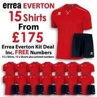 Everton 15 Kit Deal - Red/Black