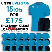 Everton 15 Kit Deal - Cyan/Black