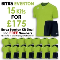 Everton 15 Kit Deal - Green Fluo/Black