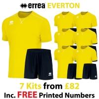 Everton 7 Kit Deal - Yellow Fluo