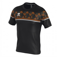 Errea Diamantis Jersey - Black/Orange Fluo/White