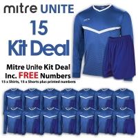 Mitre Unite 15 Kit Deal - Royal/White