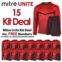 Mitre Unite 15 Kit Deal - Scarlet/Black