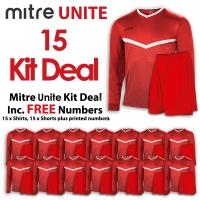 Mitre Unite 15 Kit Deal - Scarlet/White