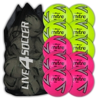 Impel Mixed Green & Pink 10 Ball Deal Plus FREE Bag