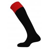 Mercury Contrast Socks - Black/Scarlet