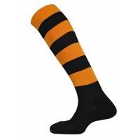 Mercury Hoop Socks - Black/Amber