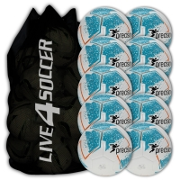 Fusion White/Blue 10 Ball Deal Plus FREE Bag