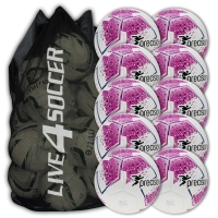 Fusion White/Pink 10 Ball Deal Plus FREE Bag
