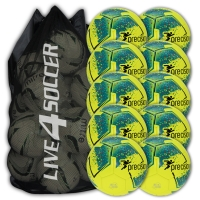 Fusion Yellow/Teal 10 Ball Deal Plus FREE Bag