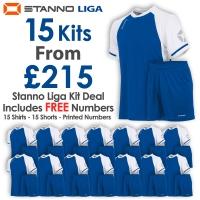 Liga 15 Kit Deal - Royal/White