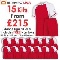 Liga 15 Kit Deal - Red/White
