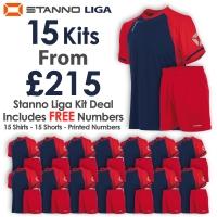 Liga 15 Kit Deal - Navy/Red